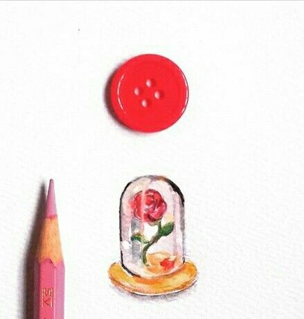 The Rose of Bhelle Miniature Watercolor by Lalaine Garcia #miniaturewatercolor #lalainegarcia