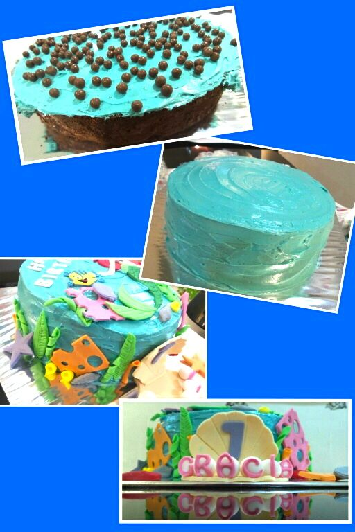 Mermaid theme Buttercream Cake