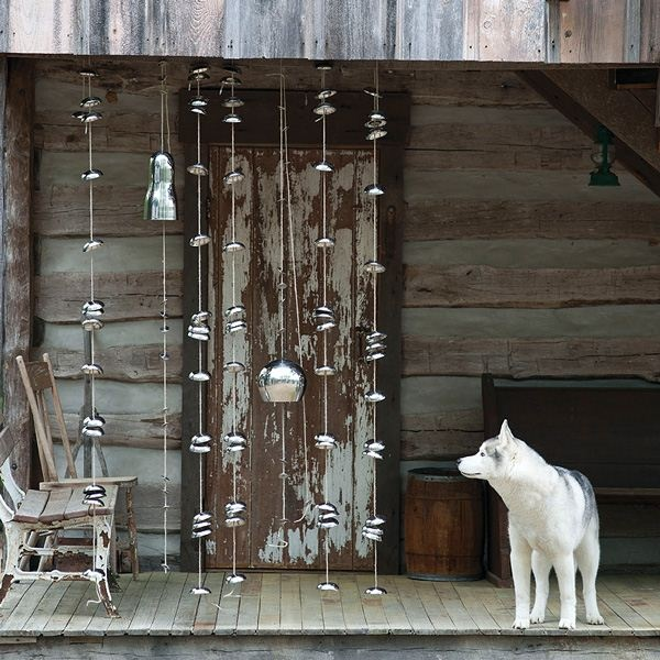The Hanging Bells Collection, $45, made from recycled stainless steel for a clear, fresh sound and polished appearance