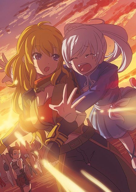 Yang and Weiss reunited- anime style!