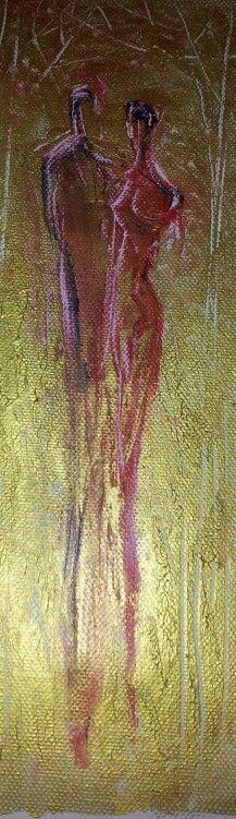 Acrylic on canvas.  15×30cm. By Tahmina Stenevik
