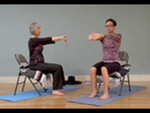 Gentle Chair Yoga for Neck and Shoulders - YogaDownload.com - YouTube