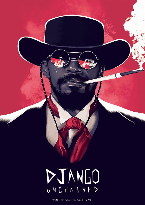 Django Unchained - movie poster - Flore Maquin