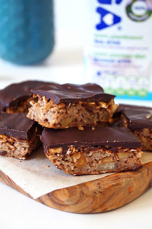 gezonde repen met noten en chocolade