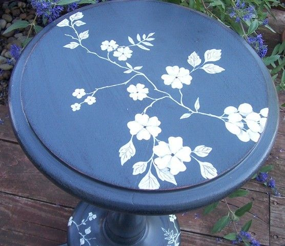 Hand Painted Vintage Dresser | Plant Stand Vintage Hand Painted Furniture by ymeier on Etsy