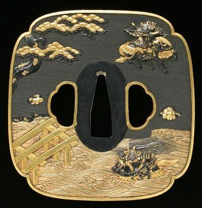 Tsuba (sword guard) by Eijo Goto, Momoyama Era (1381~1614), Japan
