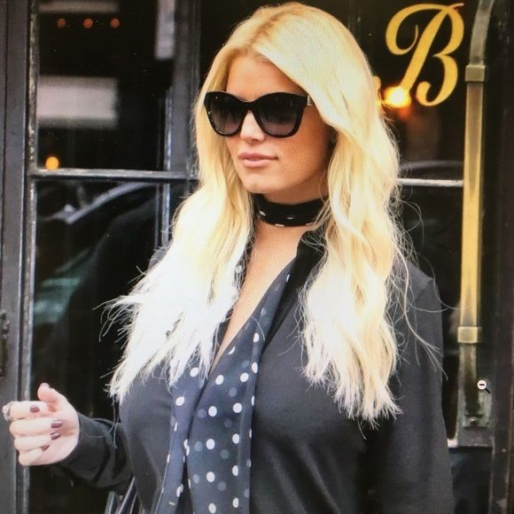 Shop Women's Jessica Simpson Black Gold size OS Sunglasses at a discounted price at Poshmark. Description: New sunglasses 🕶 . Model J5329. Black frame with gold details. 100% UVA & UVB Protection.. Sold by qkbstns. Fast delivery, full service customer support.