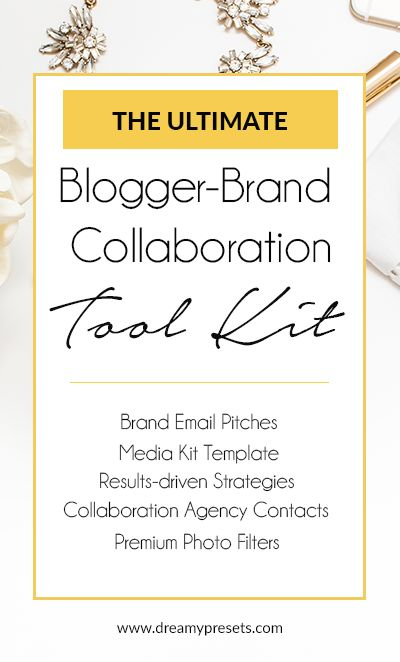The best brand-blogger collaboration toolkit, designed to help bloggers secure more paid and gifted collaborations.