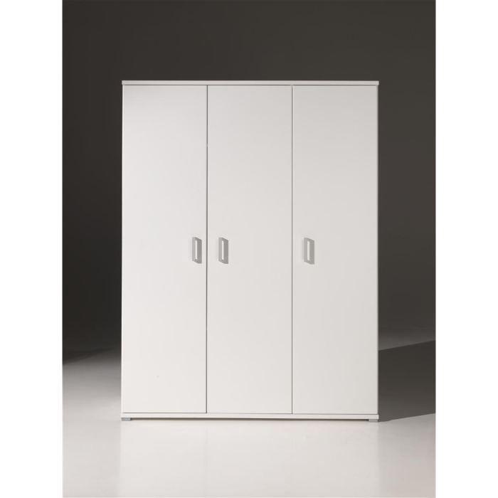 Armoire 3 Portes Milan Armoire De Chambre Junior Blanc Mat L 150 Cm Achat Armoire Chambre Chambre Junior Meuble Chambre
