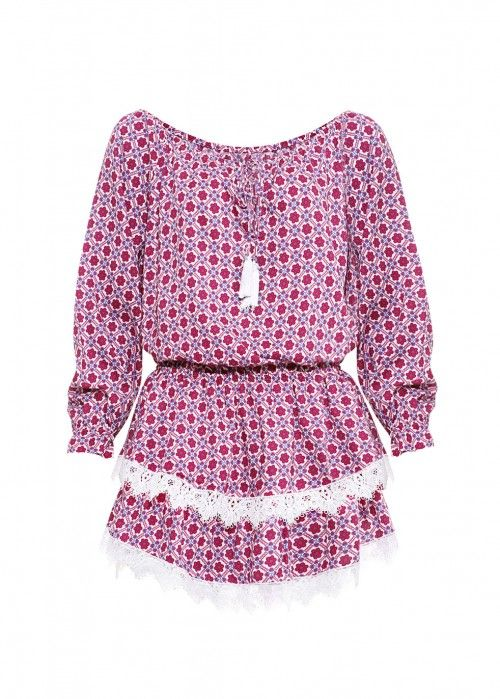PAOLITA MOJAVE PRINTED SHORT DRESS MULTI-COLOURED - SIZE L. #paolita #cloth #