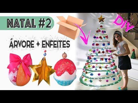 ESPECIAL NATAL #2: DIY ÁRVORE DE NATAL DE PAPELÃO + ENFEITES | Paula Stephânia - YouTube