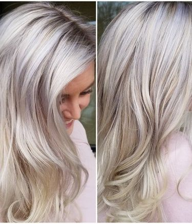 """TRANSFORMATION: Home """"Situation"""" To Silvery Blonde - Nice SAVE! - Career - Modern Salon"""