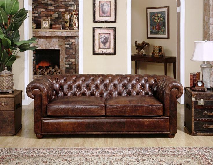 Chesterfield Sofa, Leather Sofa - Locus Habitat