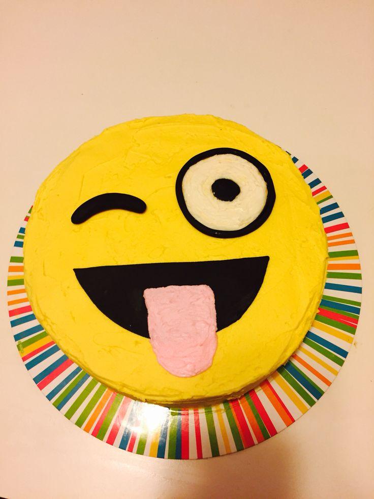 Emoji birthday cake for Madison's 10th birthday!