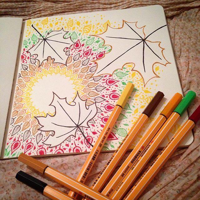 Definitely enough colors in this one 😜🍂🍁 #mandala #mandalamaze #zenart #art #zendoodle #doodle #drawing #colourful #colorful #patience #fun #yellow #brown #autumn #fall #bunt #malen #Kunst #arts_help #art_spotlight #dibujo #sketchbook #instaart #wip #stabilo #zeichnung #featuregalaxy