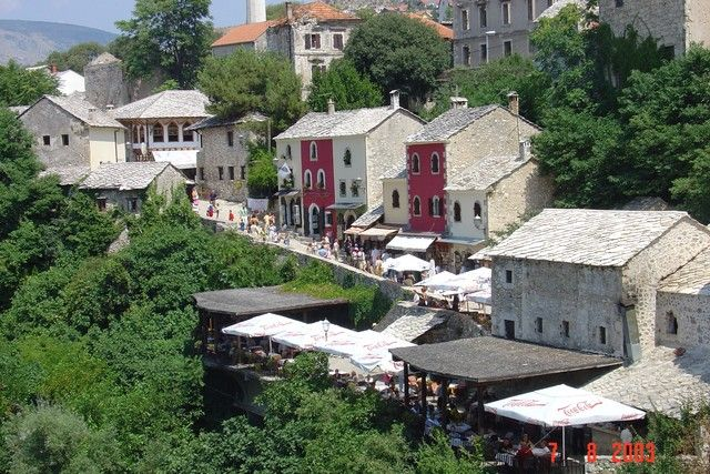 Mostar, Bosnia Herzegovina.  http://www.worldheritagesite.org/sites/mostar.html