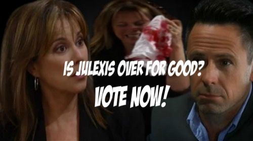 """""""General Hospital"""" (GH) spoilers tease that Alexis Davis (Nancy Grahn) thinks Julian Jerome (William deVry) should bow to her ultimatum and be arrested for the"""
