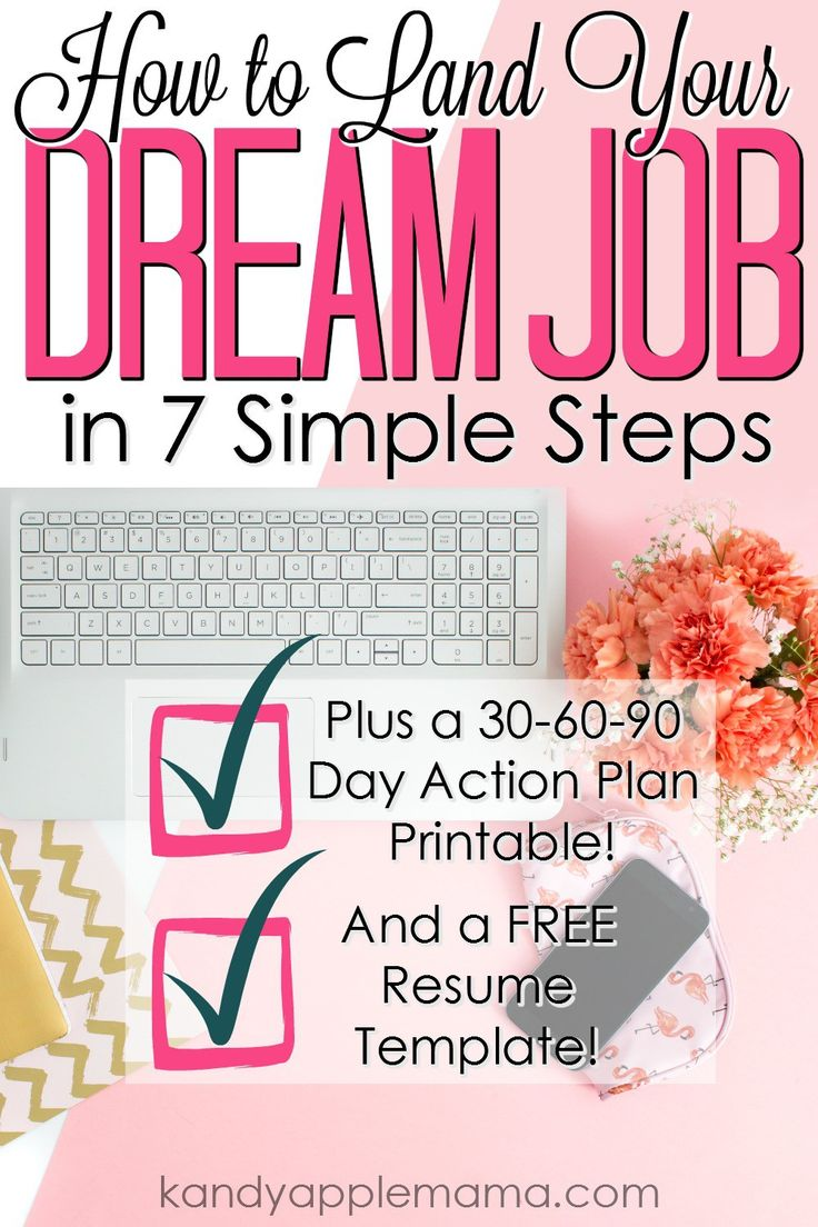 Dream Job | Resume Template | Ace the Job Interview | 30 60 90 Day Plan | Preparing for Job Interview | Successful Adult | New Job| Applying for Jobs | Adulting Series | Kandy Apple Mama