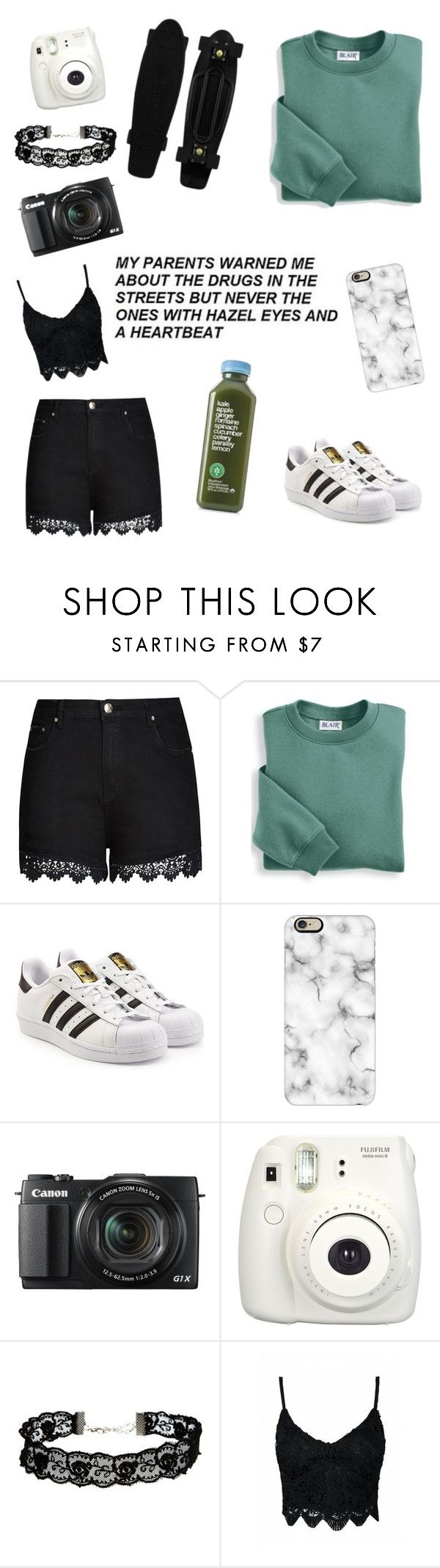 """""""Hazel eyes and a heart beat💖"""" by kylieirwin11 ❤ liked on Polyvore featuring City Chic, Blair, adidas Originals, Casetify, G1, Fujifilm, ASOS and plus size clothing"""