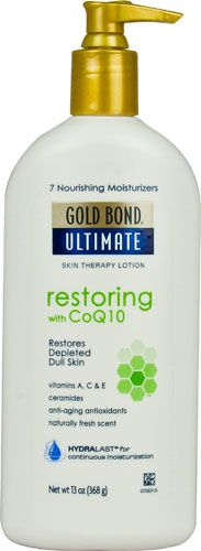 Gold Bond Ultimate Skin Therapy Lotion Restoring with Co Q10 -- 13 fl oz -  I've been using this for about a week. So far I like this better than the higher price brands.