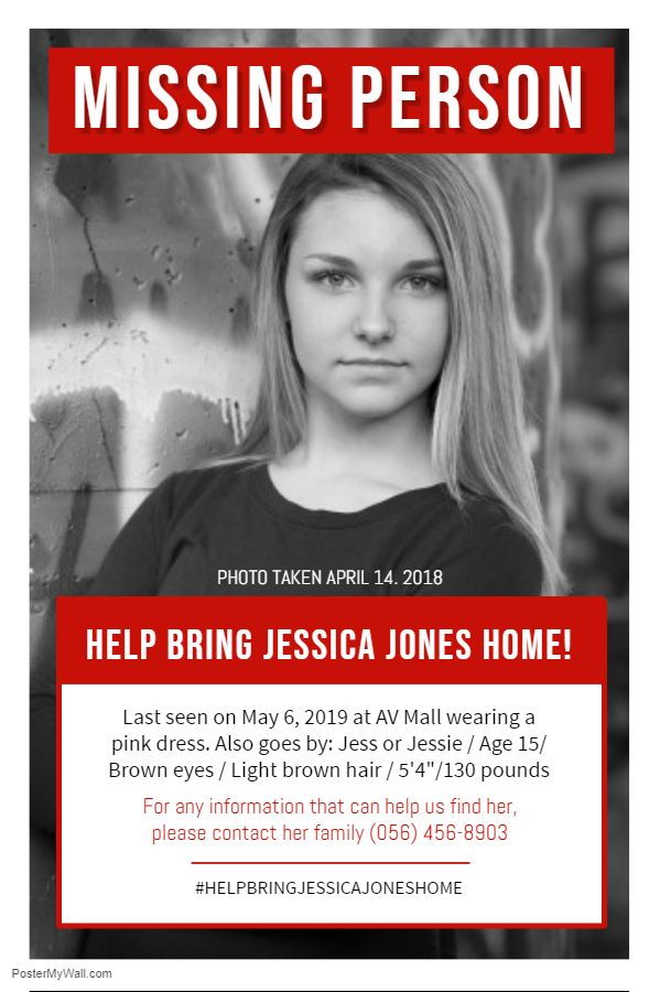 Missing Person Poster Red Poster Template Missing Persons Flyer Template