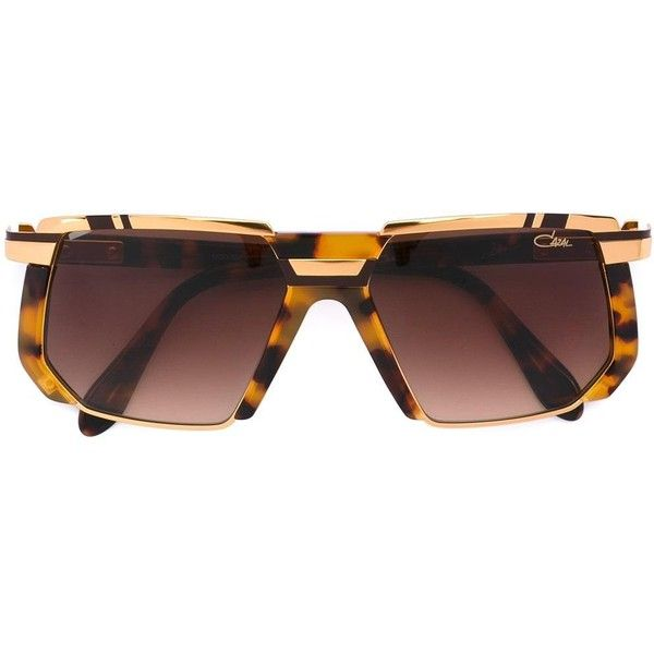 Cazal square frame sunglasses ($1,115) ❤ liked on Polyvore featuring accessories, eyewear, sunglasses, brown, cazal glasses, brown glasses, unisex glasses, square sunglasses and cazal sunglasses