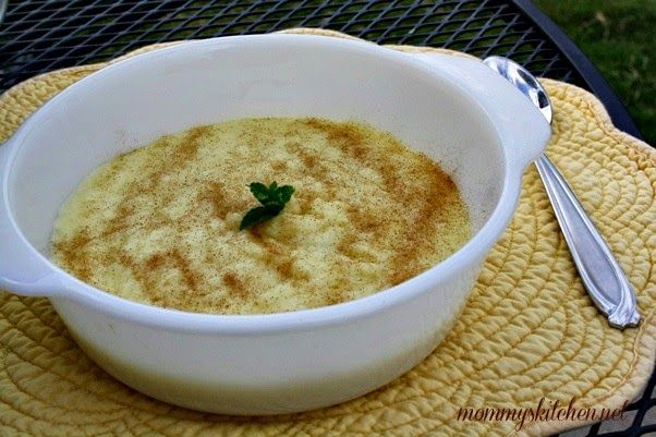 Mommy's Kitchen - Home Cooking & Family Friendly Recipes: Homemade Creamy Rice Pudding