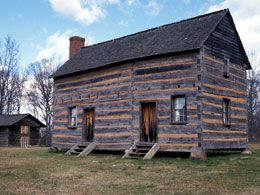 This site is located on land once owned by the parents of James K. Polk, the 11th U.S. president. The state historic site commemorates significant events in the Polk administration: the Mexican-American War, settlement of the Oregon boundary dispute, and the annexation of California. Reconstructions of typical homestead buildings—a log house, separate kitchen, and barn—are authentically furnished.