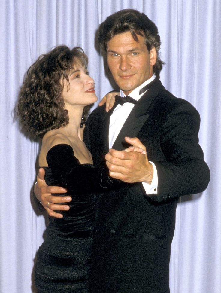"1988: Actors Patrick Swayze and Jennifer Grey attend the 60th Annual Academy Awards at the Shrine Auditorium on April 11, 1988, in Los Angeles. The pair starred in the 1987 film ""Dirty Dancing,"" which won the Academy Award for Best Original Song."
