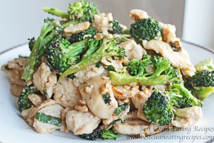 clean eating recipe - broccoli chicken #cleaneating #eatclean #healthyrecipe