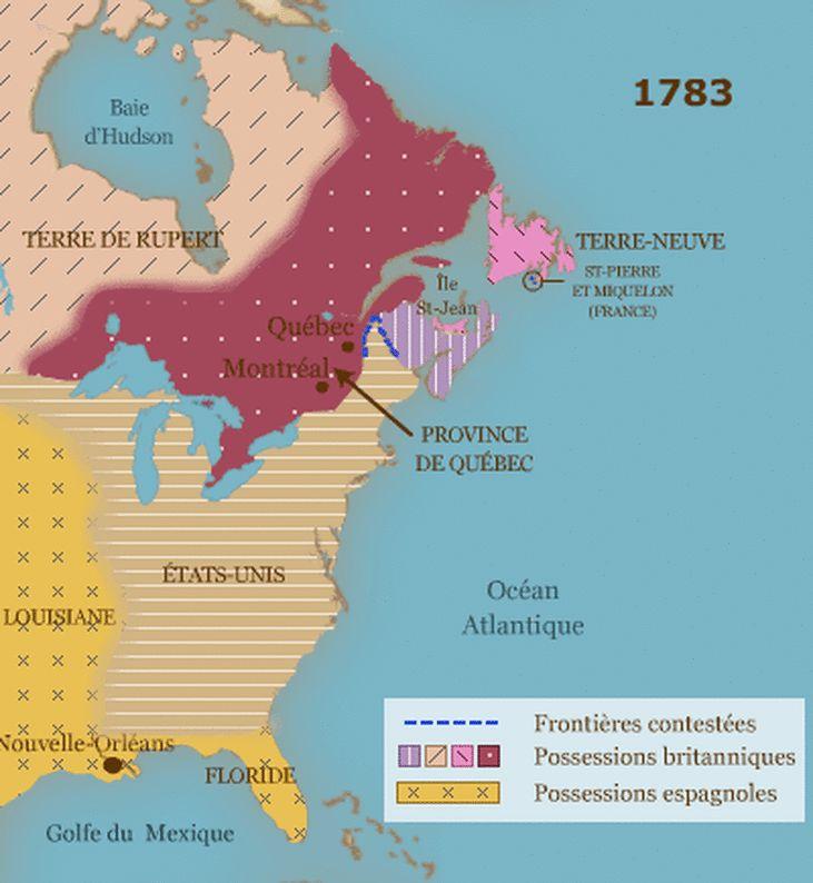 Traité de Versailles qui met un terme à la Guerre d'Indépendance américaine.