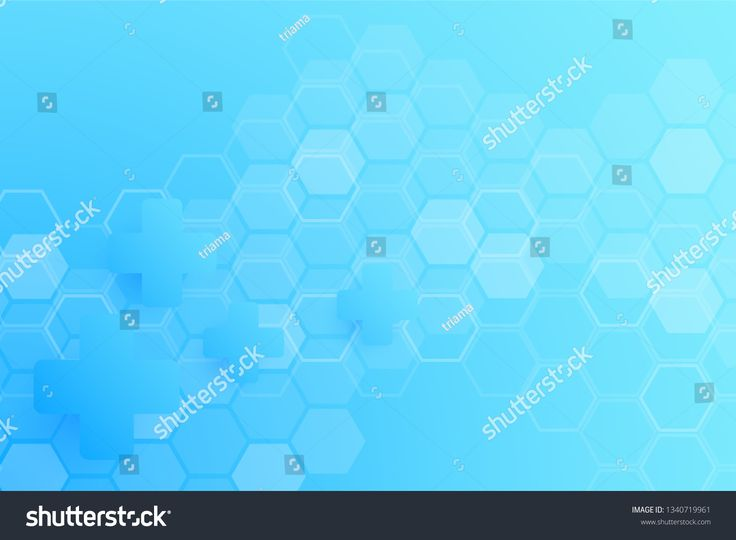 Abstract cool healthy and medical background. Technology and science wallpaper template with hexagonal shape. Soft blue color medical banner template …