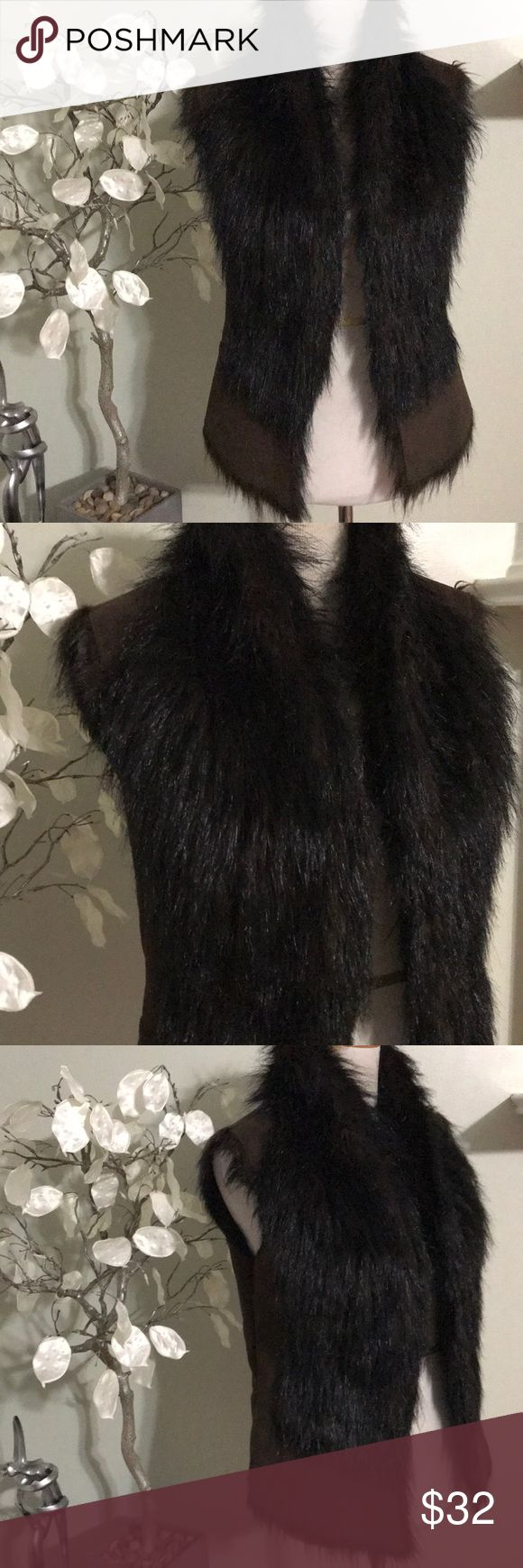 ZARA WINTER VEST Unique and beautiful vest , faux fur, new without tags, 100% polyester, super warm and stylish Zara Jackets & Coats Vests