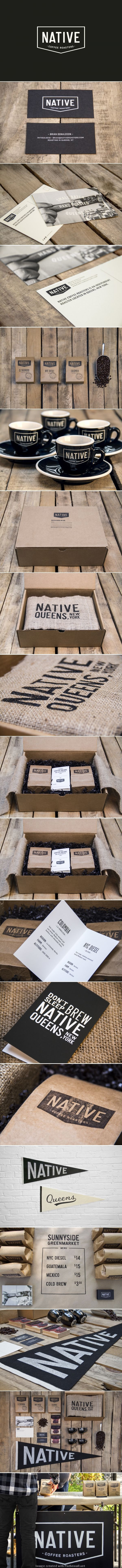 Native Coffee Roasters... black ink over kraft paper is always a smart choice!