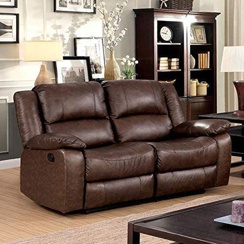 Best Seller Benjara Benzara Classy Reclining Loveseat Brown Online In 2020 Leather Reclining Loveseat Love Seat Furniture