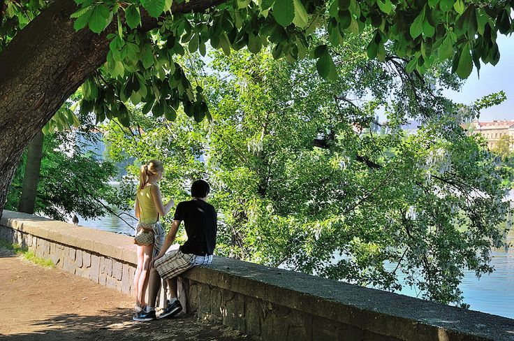 A Prague Spring / Lovers on the banks of the Vltava river - Explore #432