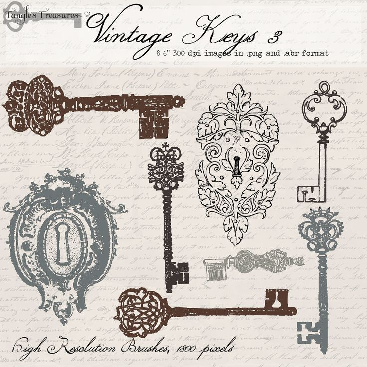 Vintage Locks And Keys 3 Digital Clip Art And Photoshop