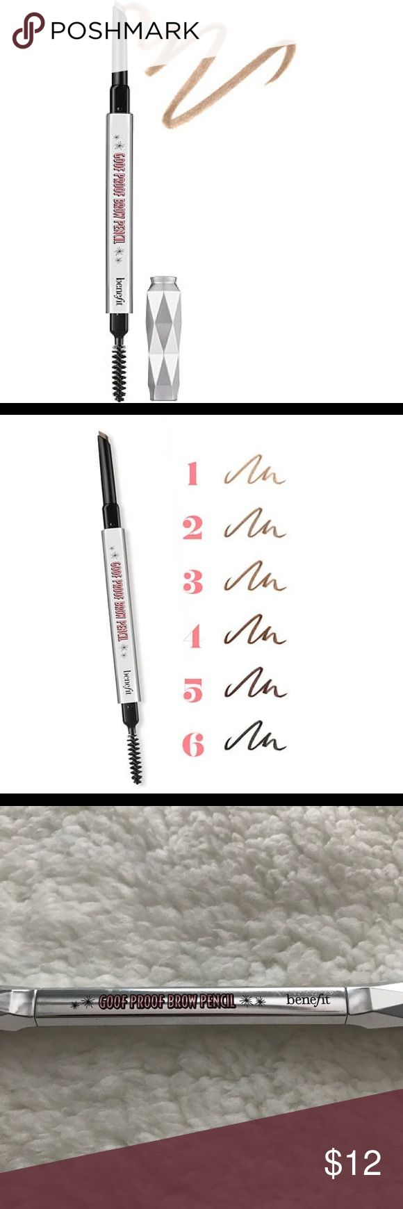 NEW Benefit Cosmetics Good Proof Brow Pencil #3 NEW Benefit goof proof dual side brow pencil in the color #3! Never used. Benefit Makeup Eyebrow Filler