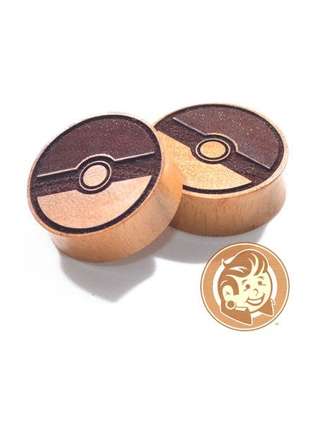 I wish they came in a smaller size, i'm not at 1/2 inch :C  Pokeball Jackfruit Wood Plugs from Plug your Holes !