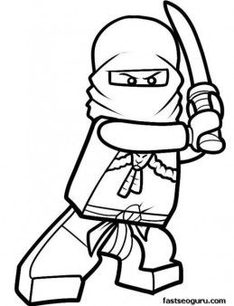Printable Cartoon Lego Ninjago Coloring in Sheets for boy - Printable Coloring Pages For Kids