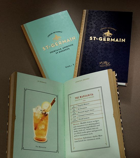 Recipe Book from http://www.sandstrompartners.com/work/st-germain/#