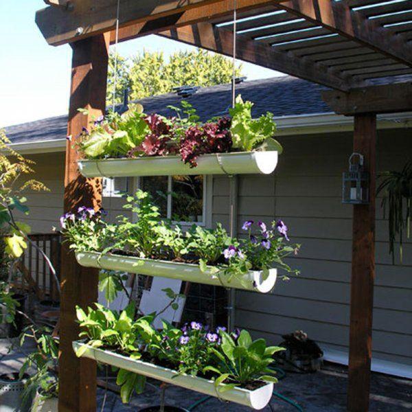 Un jardin suspendu dans des gouttières - Marie Claire Idées