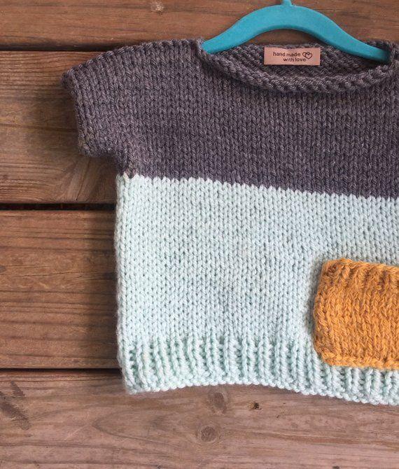 d64e32906056c4 Easy Kids Knit Pop Top Knitted pattern beginner knitting
