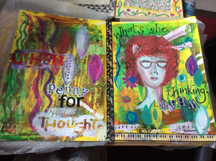 First art journal page
