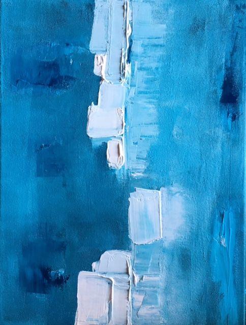 art painting blue