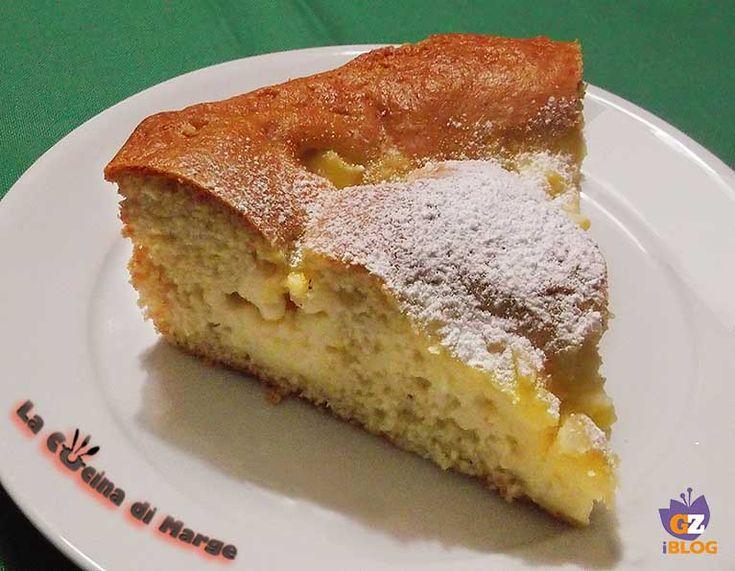 TORTA ALLA CREMA PASTICCERA - Qui la #ricetta #BlogGz: http://blog.giallozafferano.it/lacucinadimarge/torta-alla-crema-pasticcera-ricetta-facile/ #GialloZafferano #torta #merenda #crema #dessert