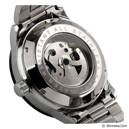ESS Skeleton Stainless Steel Automatic Mechanical Watch [WM400] - Silver/Black - Jam Tangan Pria Casual
