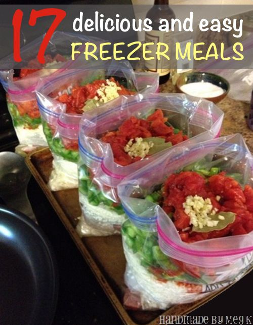 17 Delicious And Easy Freezer Meals | http://homestead-and-survival.com/17-delicious-and-easy-freezer-meals/