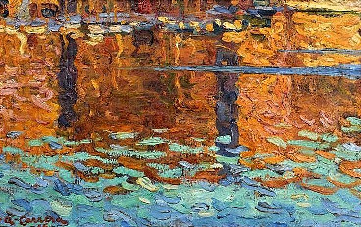 Augustin CARRERA (Madrid, 1878 - Paris, 1952) REFLETS, 1906. 17.91 x 27.95 in