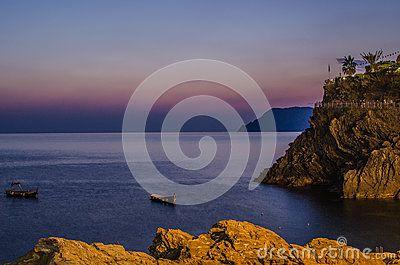 Sunset in Manarola - Cinque Terre, Italy